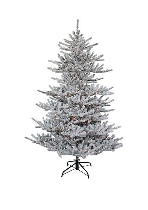 Kurt S. Adler 7 Foot Pre-Lit Flocked Pine