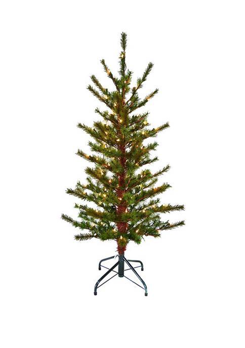 Kurt S. Adler 4 Foot Pre-Lit Slim Tree