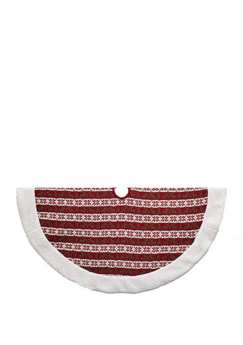 Kurt S. Adler 48 Inch Knit Pattern Red,