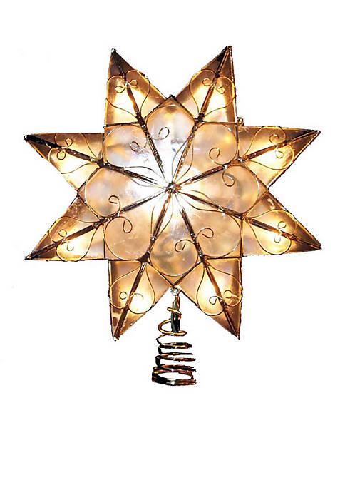 Kurt S. Adler Indoor 10-Light 8-Point Capiz Star