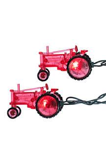 10-Light Red Tractor Light Set