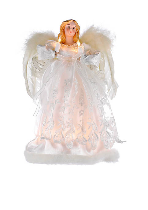 Kurt S. Adler 10-Light Ivory Angel Treetop