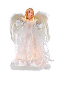 10-Light Ivory Angel Treetop