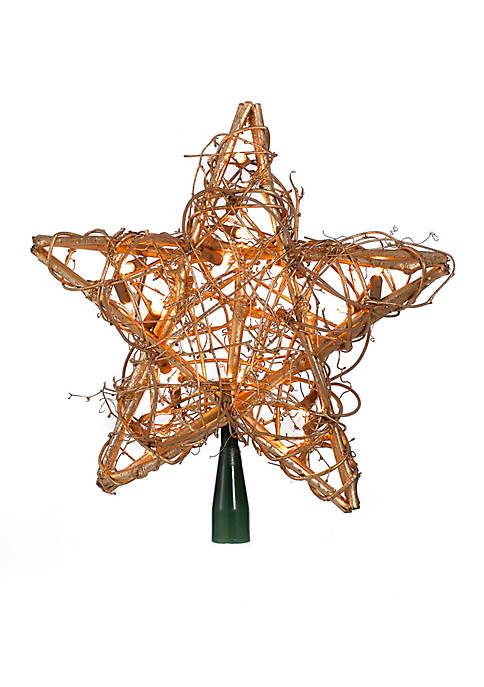Kurt S. Adler 20-Light Gold Rattan Star