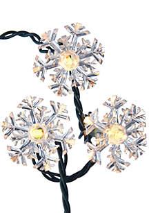 Indoor Outdoor UL 35 Light Double Layer Snowflake Reflector Set