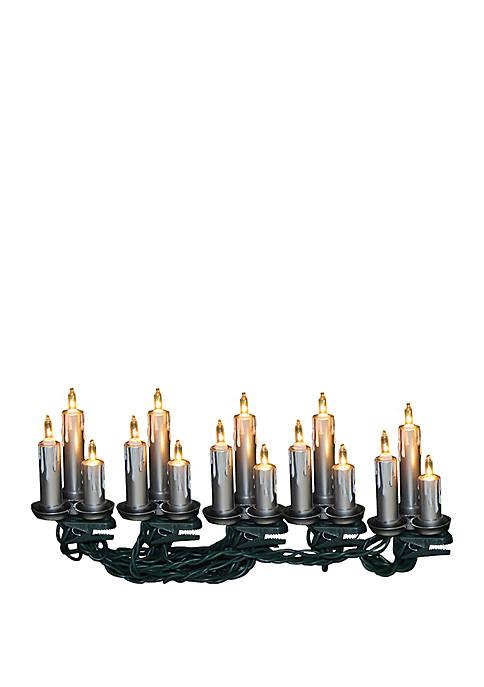 Kurt S. Adler UL 15-Light Silver Triple Candle