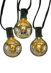 UL 10-Light G50 C7 Silver Novelty Light Set