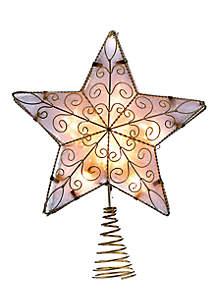 10 Light Gold Reflector Star Treetop
