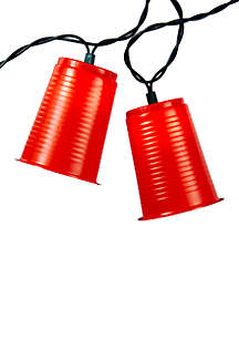 UL 10-Light Red Party Cup Light Set