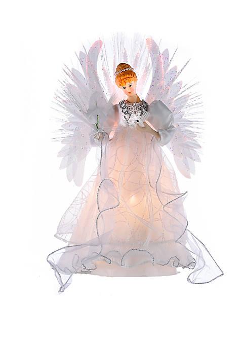 14 in Multi Fiber-Optic LED Angel Treetop