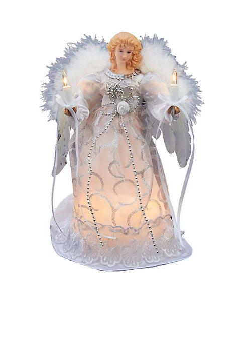 Kurt S. Adler UL 10-Light White/Silver Angel Treetop