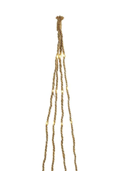 Kurt S. Adler 6 Foot Brown Burlap Rope