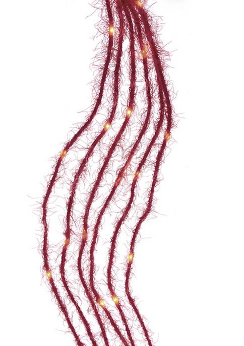 Kurt S. Adler 120-Light Red Fuzzy Multi Strand