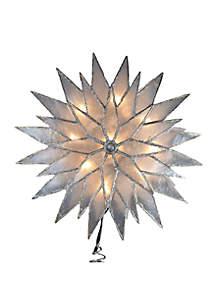 Silver Sunburst Capiz Lighted Treetop