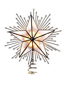 5-Point Capiz Star Treetop with Rays and Beads