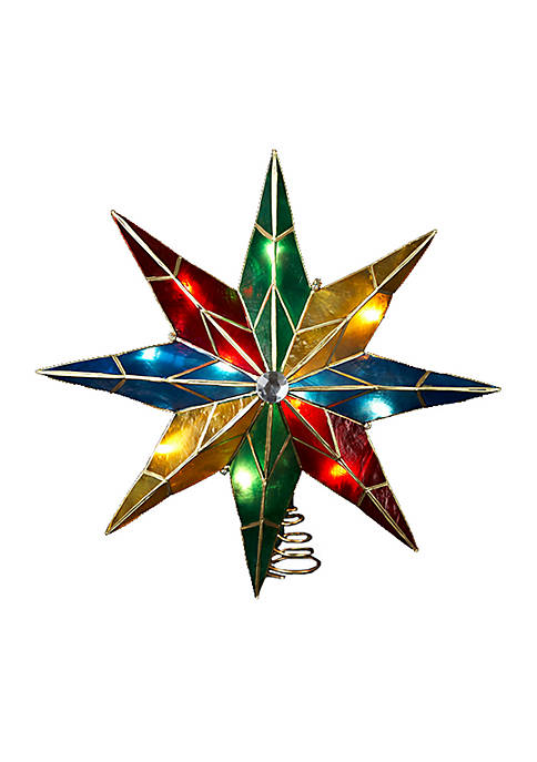 8-Point Star With Center Gem Treetop