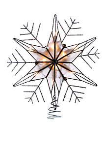 10 Light Silver Capiz Wire Snowflake Treetop