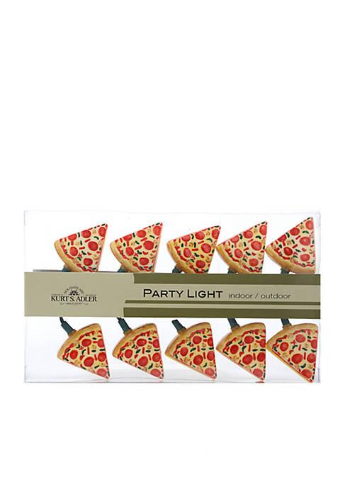 Kurt S. Adler Indoor/Outdoor 10-Light Pizza Light Set