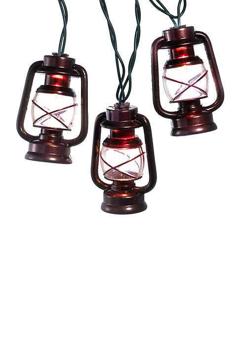 Kurt S. Adler UL 10-Light Brass Lantern Light
