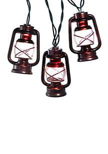 UL 10-Light Brass Lantern Light Set