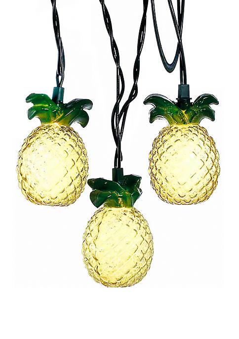 Kurt S. Adler 10-Light Glass-Look Pineapple Light Set
