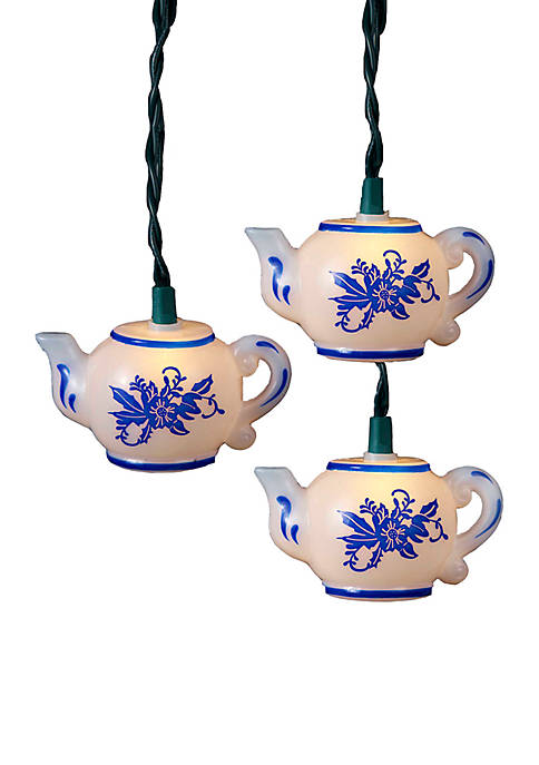 Kurt S. Adler UL 10-Light Teapot Light Set