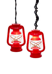UL 10-Light Red and Clear Prospector Lantern Light Set
