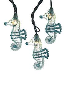 UL 10-Light Glittered Seahorse Light Set