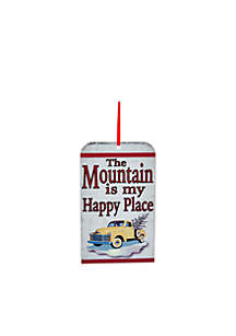 'The Mountain Is A Happy Place' Ornament