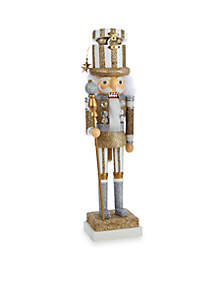 Kurt S. Adler White Tree/Silver Package/Gold Package Hat Hollywood Nutcracker, 3 Assorted Styles