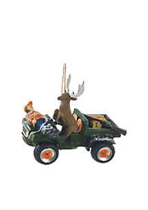 Deer Driving Hunter Ornament