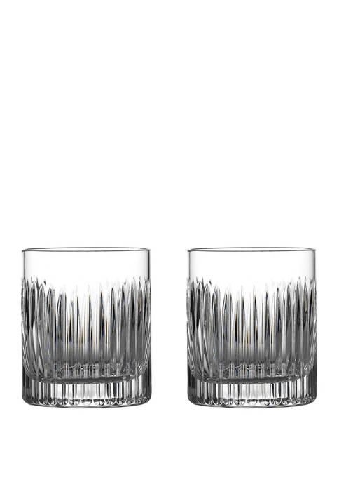 Aras Set of 2 12 Ounce Double Old Fashioned Glasses