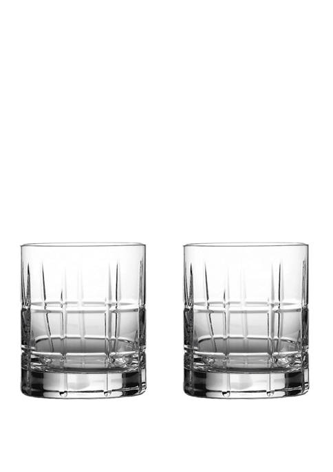 Waterford Set of 2 Cluin Double Old Fashioned