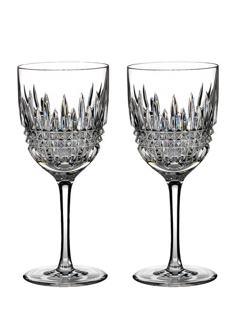 Waterford Lismore Diamond Goblet Glasses
