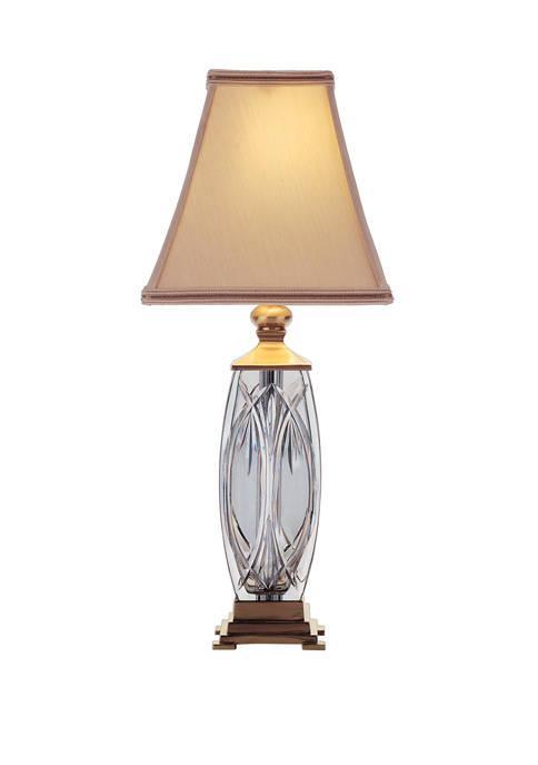19 Inch Finn Accent Versailles Brass Lamp