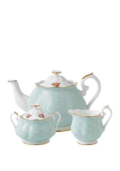 Royal Albert 3 Piece Polka Tea Set