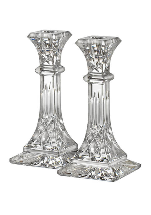 Waterford 8 Inch Lismore Candlestick Pair