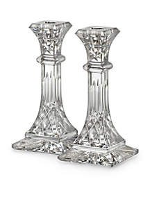 Lismore 8-in. Candlestick Holder Pair