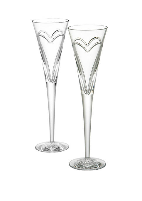 Waterford Wishes Love and Romance Toasting Flute Pair