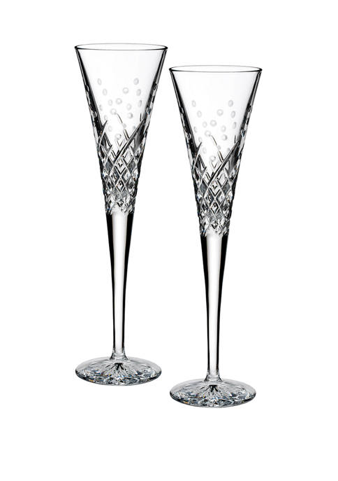 """Wishes """"Happy Celebrations"""" Toasting Flute Pair"""
