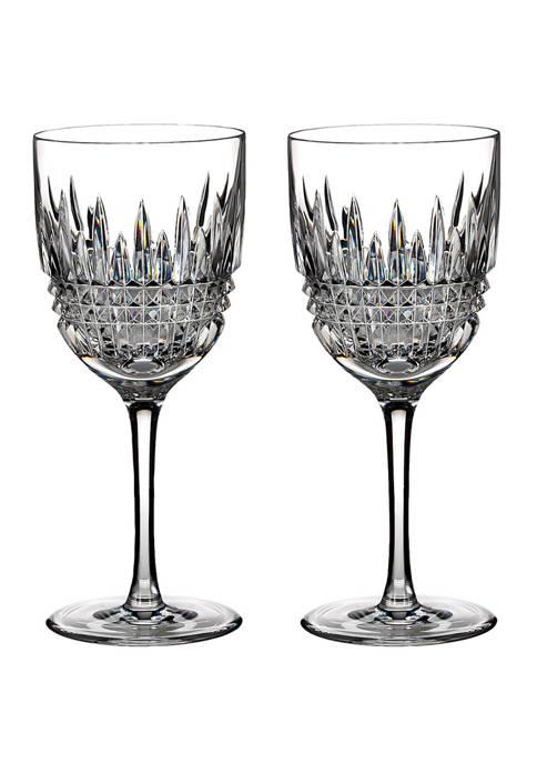 Set of 2 Lismore Diamond Goblets