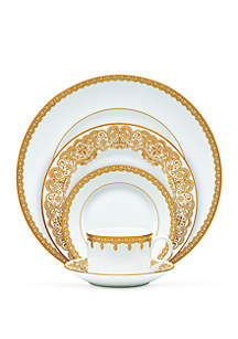 Lismore Lace Gold 5-Piece Place Setting