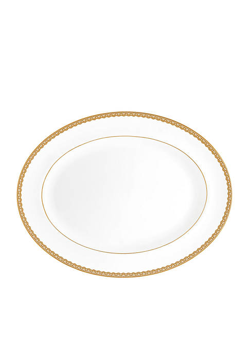 Lismore Lace Gold 15.5-in. Platter