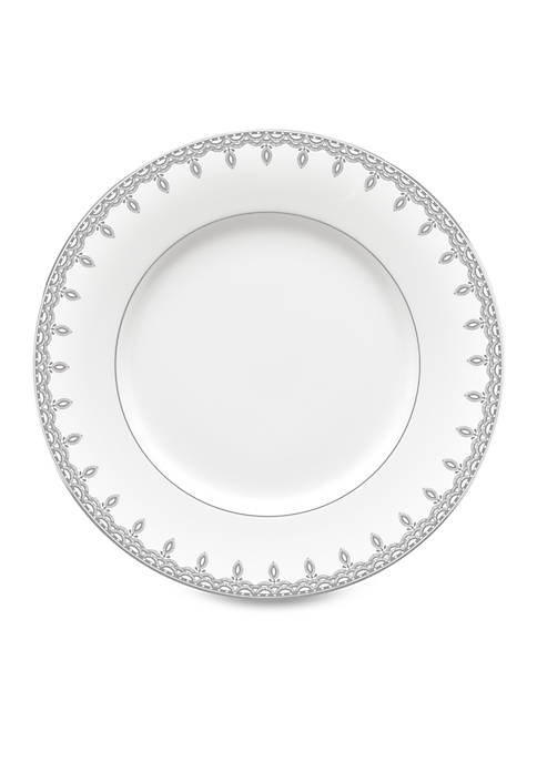 Lismore Lace Platinum Accent Plate 9-in.