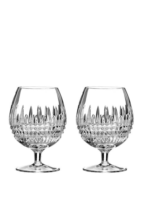 Waterford Set of 2 Lismore Diamond Brandy Glasses
