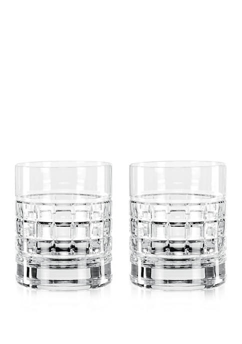 Set of 2 London Double Old Fashioned Glasses