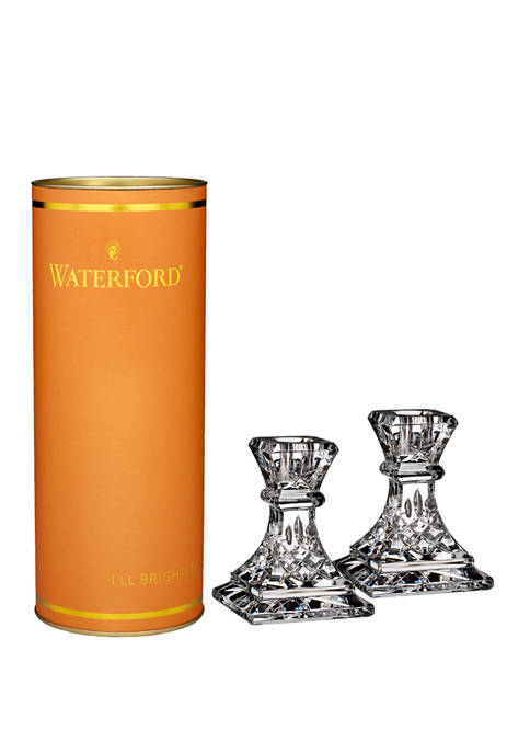 Waterford Giftology Lismore Candlestick 4 Inch Pair