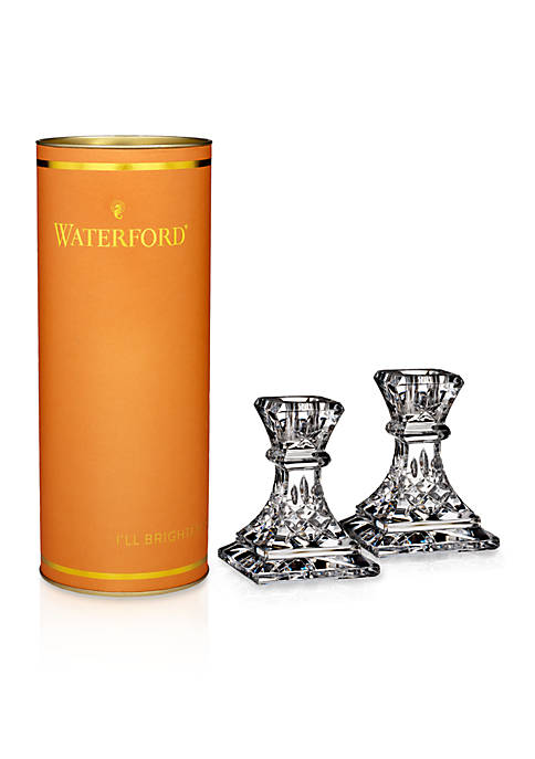 Waterford Giftology Lismore 4-in. Candlestick Pair