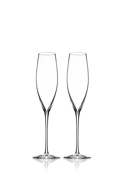 Waterford Set of 2 Elegance Collection Champagne Classic