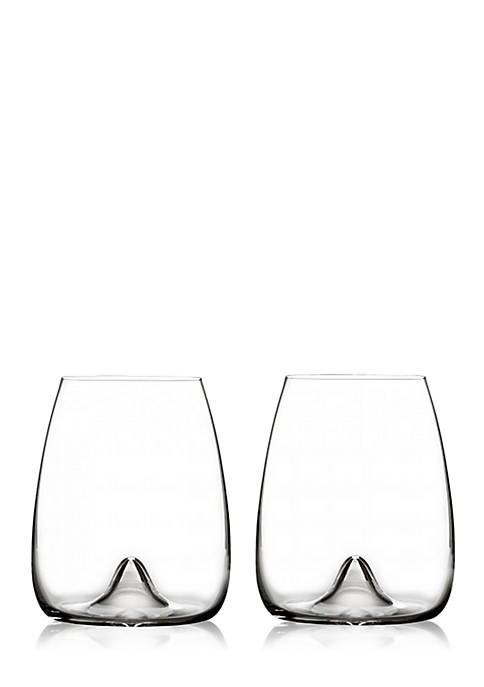 Set of 2 Elegance Collection Stemless Wine Glass